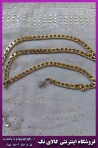 زنجیر دو رنگ کارتیه استیل