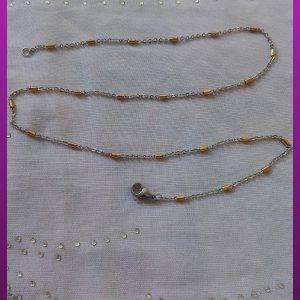زنجیر دو رنگ برجسته استیل