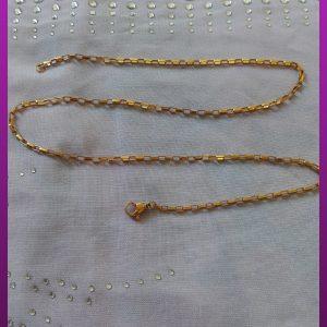 زنجیر طلایی آجری استیل