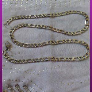 زنجیر نقره ای کارتیه استیل