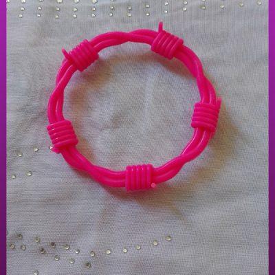 دستبند سیم خاردار دوبل پلاستیکی