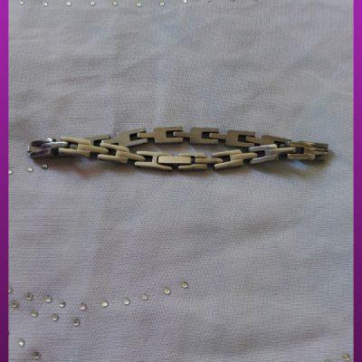 دستبند نقره ای استیل