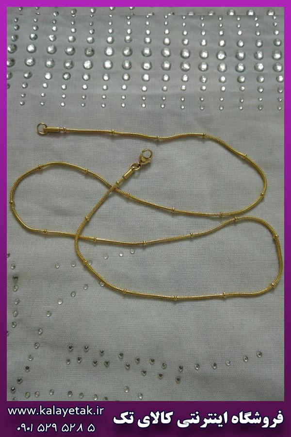 زنجیر طلایی برجسته استیل