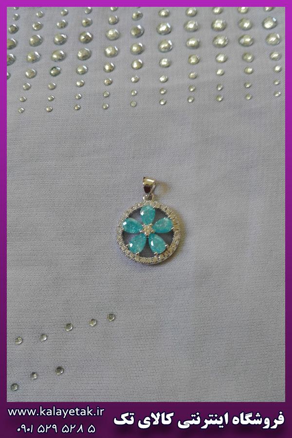 پلاک گل آبی استیل