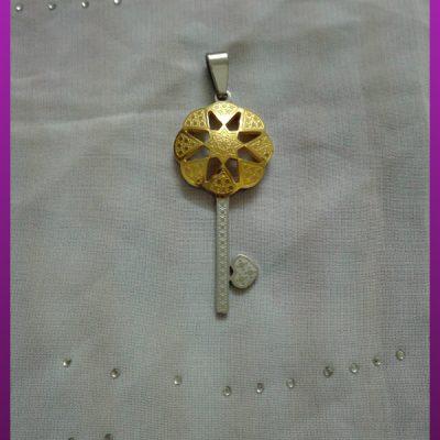 پلاک کلید دورنگ استیل