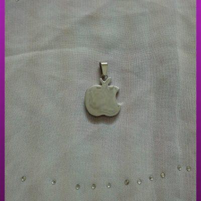 پلاک اپل (سیب) نقره ای استیل