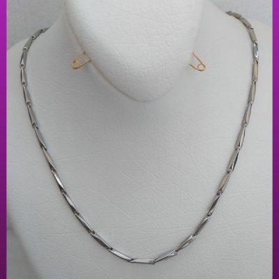 زنجیر نقره ای ساده استیل