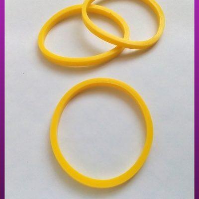 دستبند پلاستیکی زرد