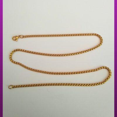 زنجیر استیل طلایی