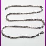 زنجیر سه بعدی نقره ای استیل