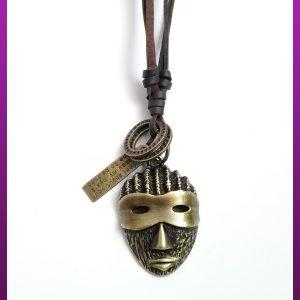 گردنبند ماسک طلایی