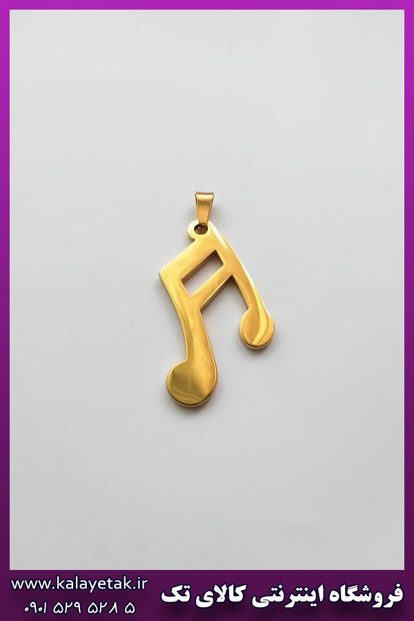 پلاک نت موسیقی طلایی استیل