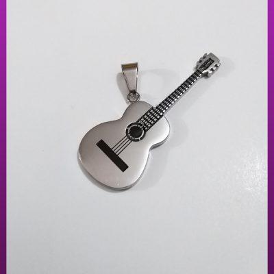 پلاک گیتار نقره ای استیل