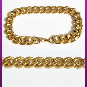 دستبند کارتیه طلایی مات استیل