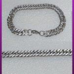 دستبند کارتیه کوبیده نقره ای استیل