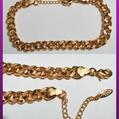 دستبند کارتیه طرح دار طلایی برند ysx