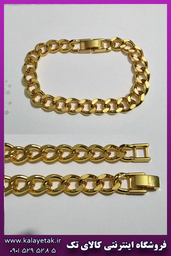 دستبند کارتیه طلایی روشن براق برند ysx