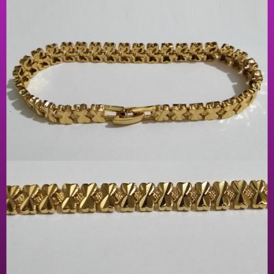 دستبند پاپیون طلایی برنجی