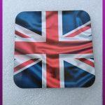 زیر لیوانی چوبی طرح پرچم انگلیس