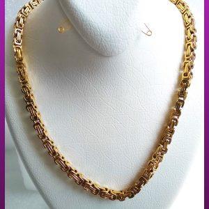 زنجیر قفلی طلایی استیل