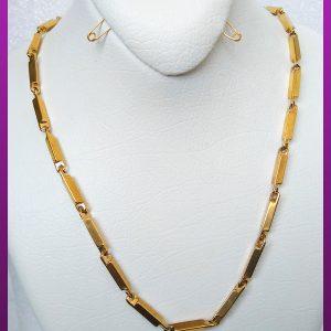 زنجیر ساده طلایی استیل