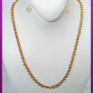 زنجیر حلقه ای طلایی استیل