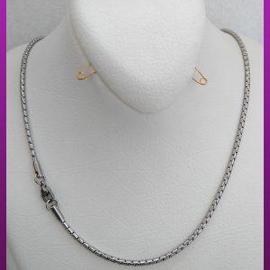 زنجیر لوله ای نقره ای استیل