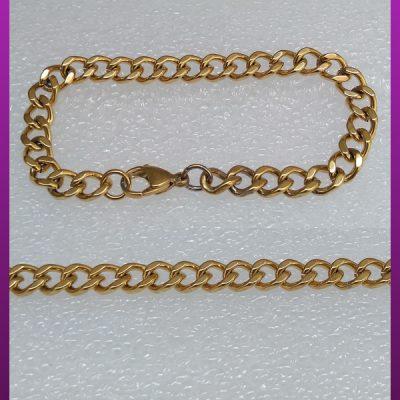 دستبند کارتیه طلایی براق استیل