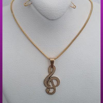 گردنبند سل طلایی استیل