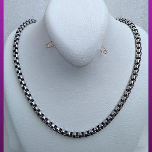 زنجیر آجری نقره ای استیل
