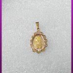 پلاک زنانه طرح طلا طلایی