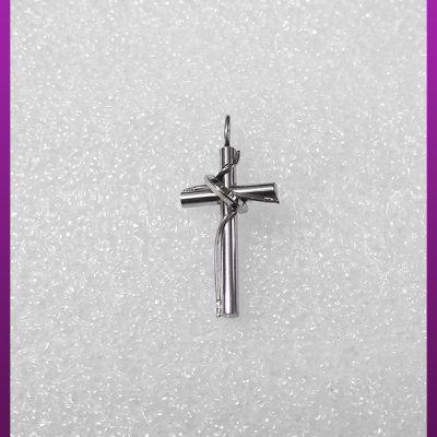 پلاک صلیب و حلقه نقره ای استیل