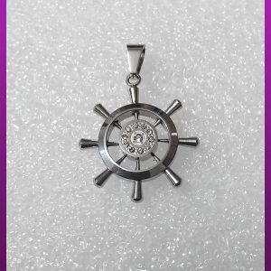پلاک سکان کشتی نقره ای استیل
