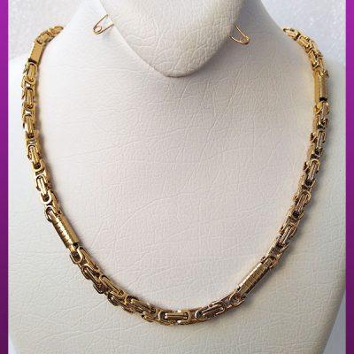 زنجیر لوله ای طلایی استیل