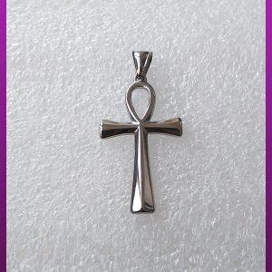 پلاک صلیب نقره ای استیل