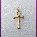 پلاک صلیب طلایی استیل