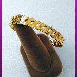 دستبند کارتیه فشاری طلایی استیل