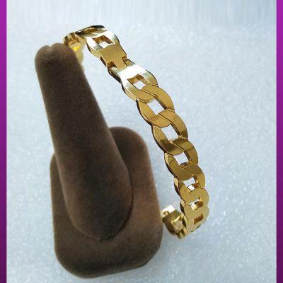 دستبند کارتیه النگویی طلایی استیل