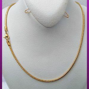 زنجیر ماری طلایی استیل