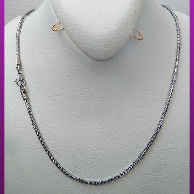 زنجیر ماری نقره ای استیل