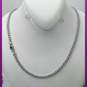 زنجیر ماری پیچی نرم نقره ای استیل