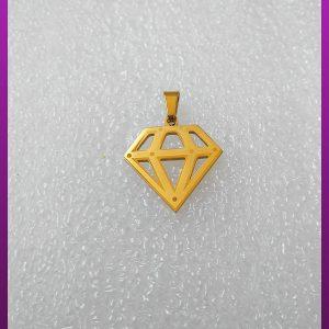 پلاک الماس طلایی استیل