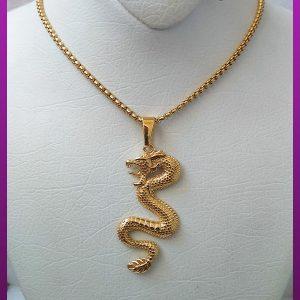 گردنبند مار طلایی استیل