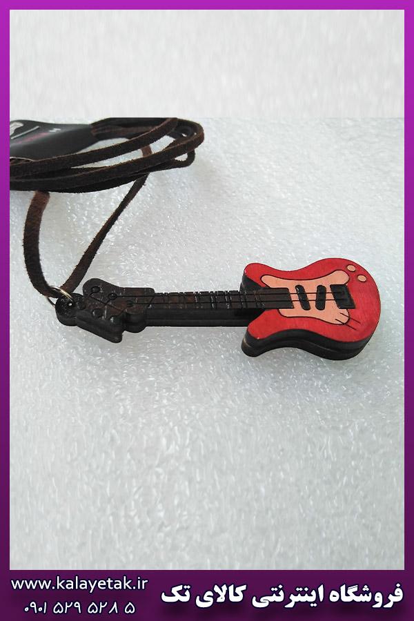 گردنبند گیتار قرمز