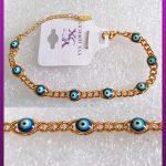 دستبند زنانه چشم زخم طلایی