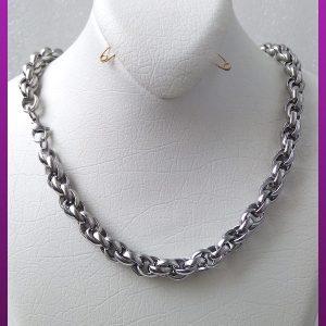 زنجیر زنجیر پیچی نقره ای استیل