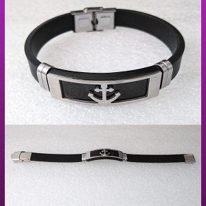 دستبند پلاک دار طرح لنگر