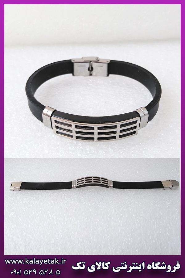 دستبند پلاک دار طرح مستطیلی