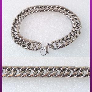 دستبند کارتیه نقره ای استیل