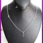 گردنبند صلیب ظریف نقره ای استیل
